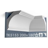 ТК5153 Карниз гладкий из гипса АртМодуль hh200x180