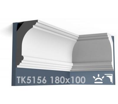 ТК5156 Карниз гладкий из гипса АртМодуль hh180x100