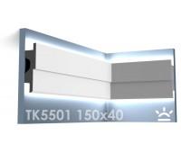 ТК5501 Карниз из гипса для подсветки АртМодуль h150x40