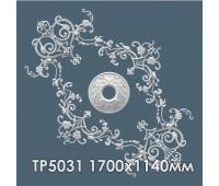 ТР5031 потолочная розетка из гипса АртМодуль 1700х1140мм